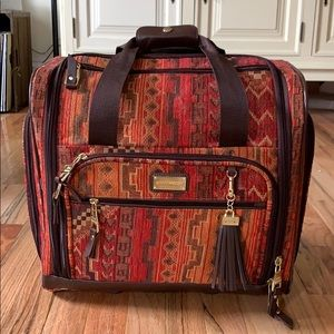 Steve Madden navaho print carry-on suitcase